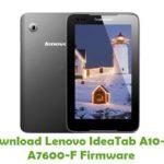 Lenovo IdeaTab A10-70 A7600-F Firmware