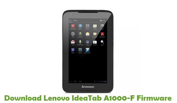 Download Lenovo IdeaTab A1000-F Firmware