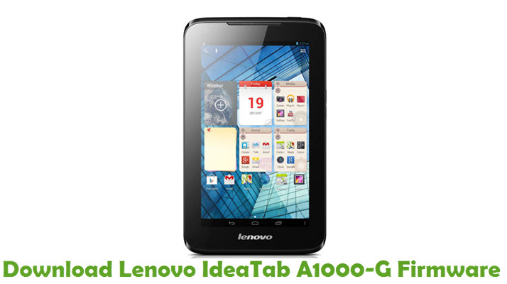 Download Lenovo IdeaTab A1000-G Stock ROM