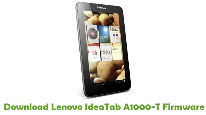 Download Lenovo IdeaTab A1000-T Firmware