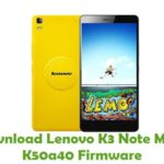 Lenovo K3 Note Music K50a40 Firmware