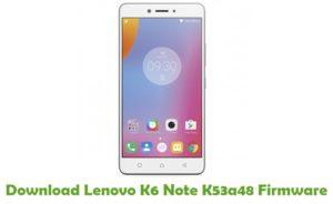 Download Lenovo K6 Note K53a48 Firmware - Stock ROM Files