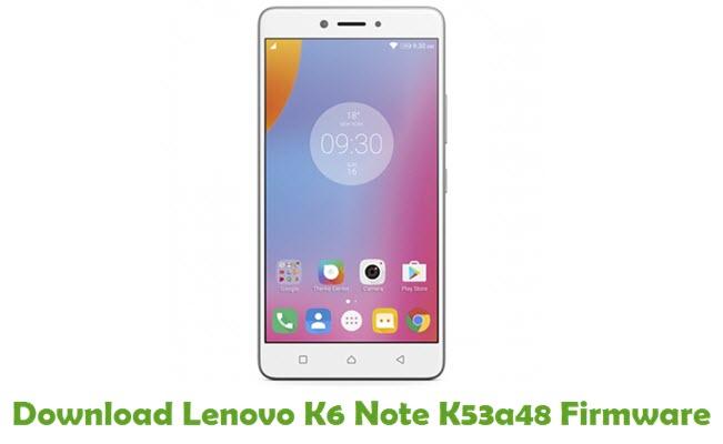 Download Lenovo K6 Note K53a48 Firmware