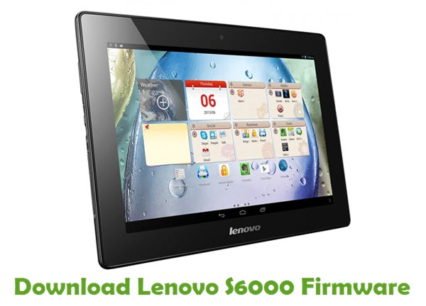 Download Lenovo S6000 Stock ROM