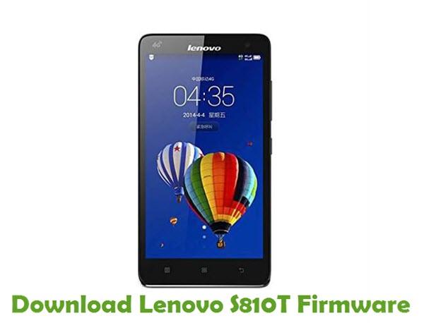 Download Lenovo S810T Stock ROM