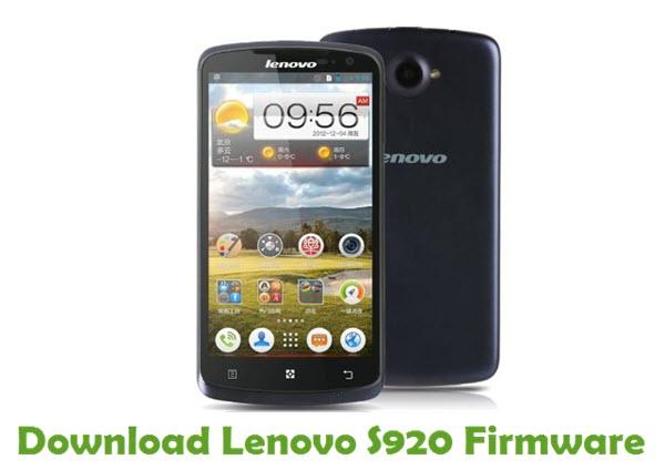 Download Lenovo S920 Stock ROM