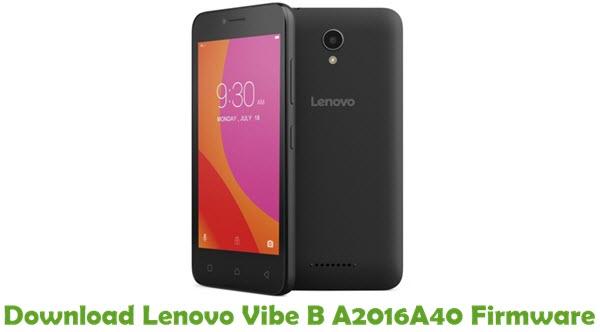 Download Lenovo Vibe B A2016A40 Stock ROM
