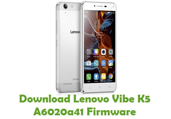 Download Lenovo Vibe K5 A6020a41 Firmware