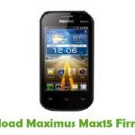 Maximus Max15 Firmware