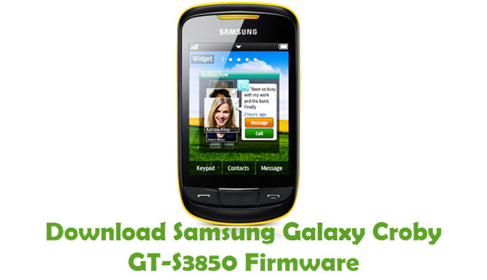 Download Samsung Galaxy Corby GT-S3850 Stock ROM