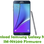 Samsung Galaxy Note 5 SM-N9200 Firmware
