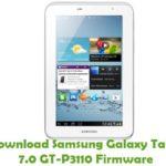 Samsung Galaxy Tab 2 7.0 GT-P3110 Firmware
