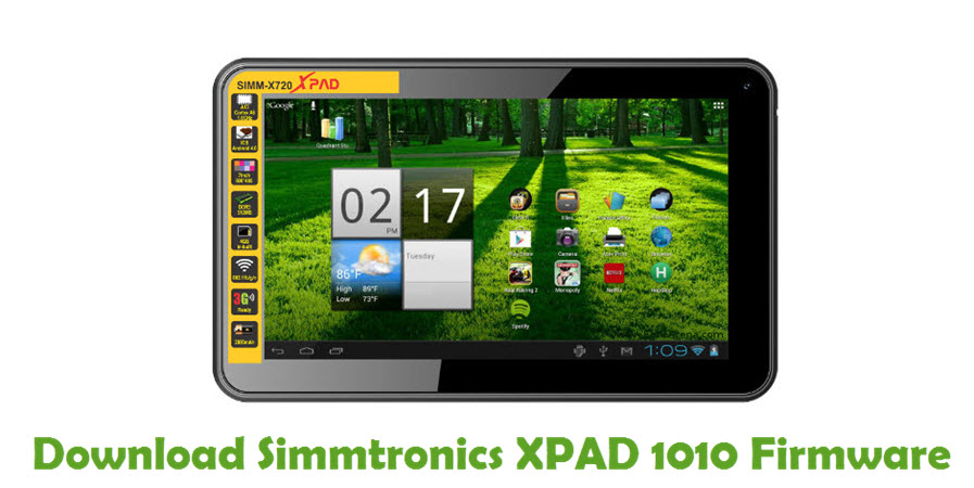 Download Simmtronics XPAD 1010 Firmware