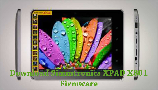 Download Simmtronics XPAD X801 Firmware
