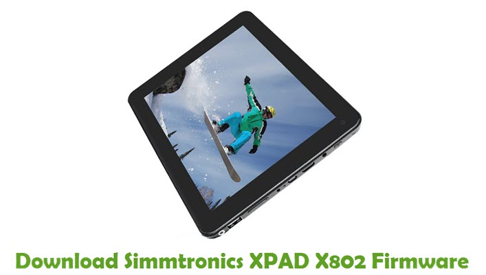 Download Simmtronics XPAD X802 Firmware