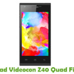 Videocon Z40 Quad Firmware