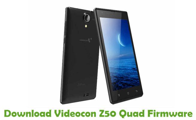 Download Videocon Z50 Quad Firmware