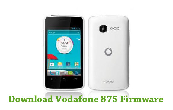 Download Vodafone 875 Firmware