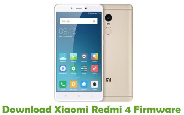 Download Xiaomi Redmi 4 Firmware