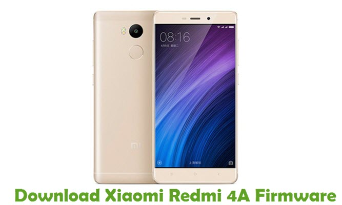 Download Xiaomi Redmi 4A Firmware