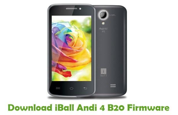Download iBall Andi 4 B20 Stock ROM