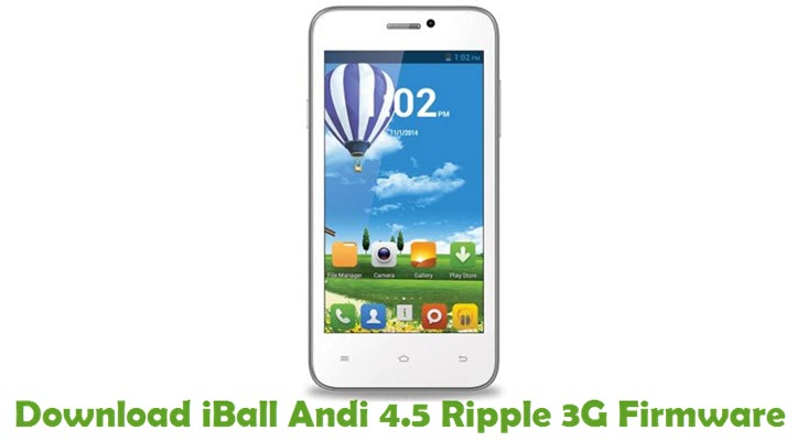 Download iBall Andi 4.5 Ripple 3G Firmware