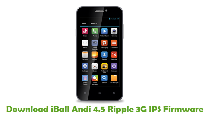 Download iBall Andi 4.5 Ripple 3G IPS Firmware