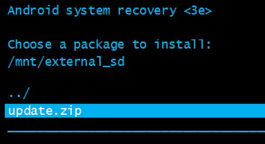Firmware Flashing Via Recovery