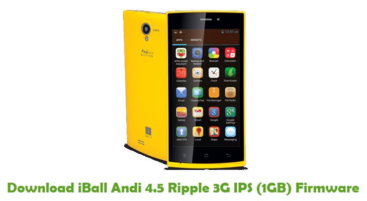 iBall Andi 4.5 Ripple 3G IPS (1GB) Stock ROM