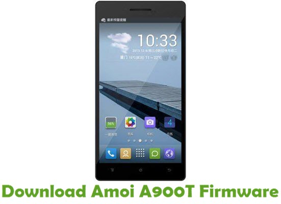 Download Amoi A900T Firmware
