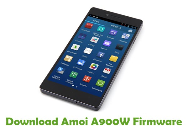 Download Amoi A900W Firmware