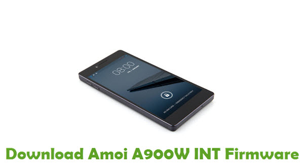 Download Amoi A900W INT Firmware