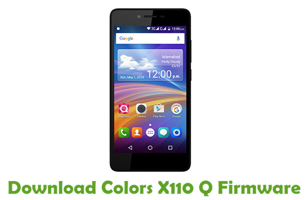Download Colors X110 Q Firmware