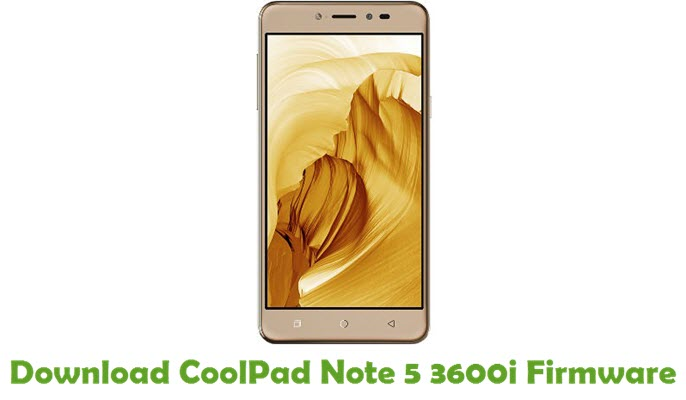 Download CoolPad Note 5 3600i Firmware