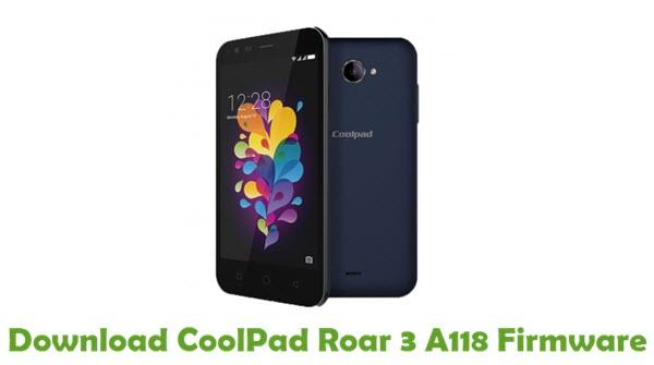 Download CoolPad Roar 3 A118 Firmware