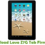 Lava Z7G Tab Firmware