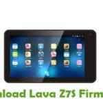 Lava Z7S Firmware