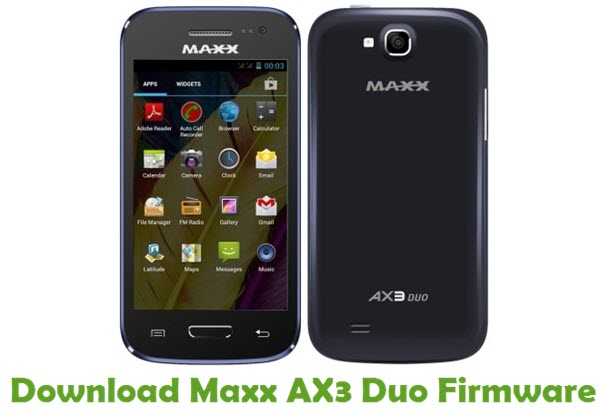 Download Maxx AX3 Duo Firmware