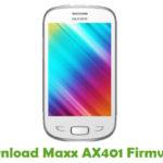 Maxx AX401 Firmware