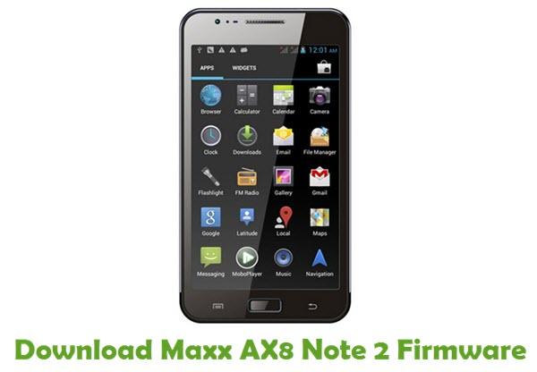 Download Maxx AX8 Note...
