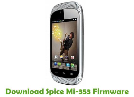 Download Spice Mi-353 Stock ROM