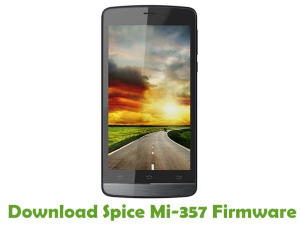 Download Spice Mi-357 Stock ROM