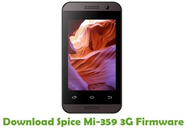 Download Spice Mi-359 3G Stock ROM
