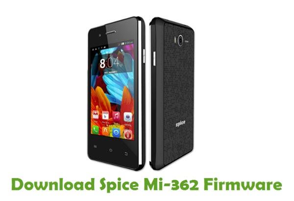 Download Spice Mi-362 Stock ROM
