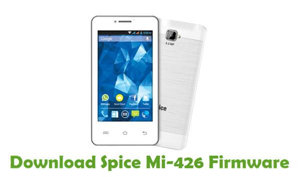 Download Spice Mi-426 Stock ROM