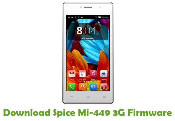 Download Spice Mi-449 3G Stock ROM