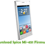 Spice Mi-451 Firmware