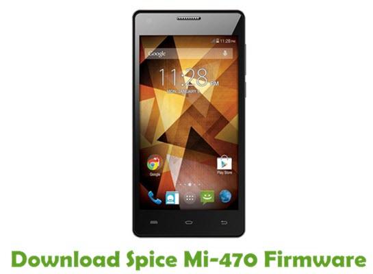 Download Spice Mi-470 Stock ROM