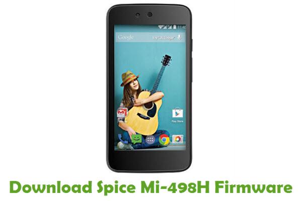 Download Spice Mi-498H Stock ROM