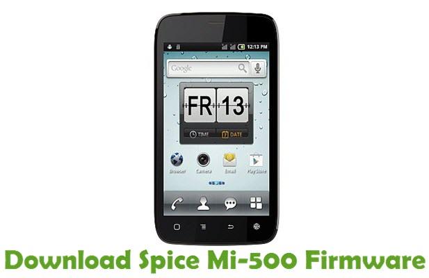 Download Spice Mi-500 Stock ROM